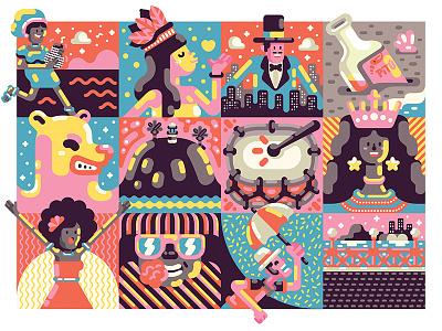Pocket Carnaval Poster carnaval brazil vector illustration poster