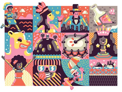Pocket Carnaval Poster carnaval brazil vector illustration poster