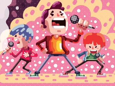 How to make a K-pop Star k-pop kpop animation illustration character study character design editorial illustration