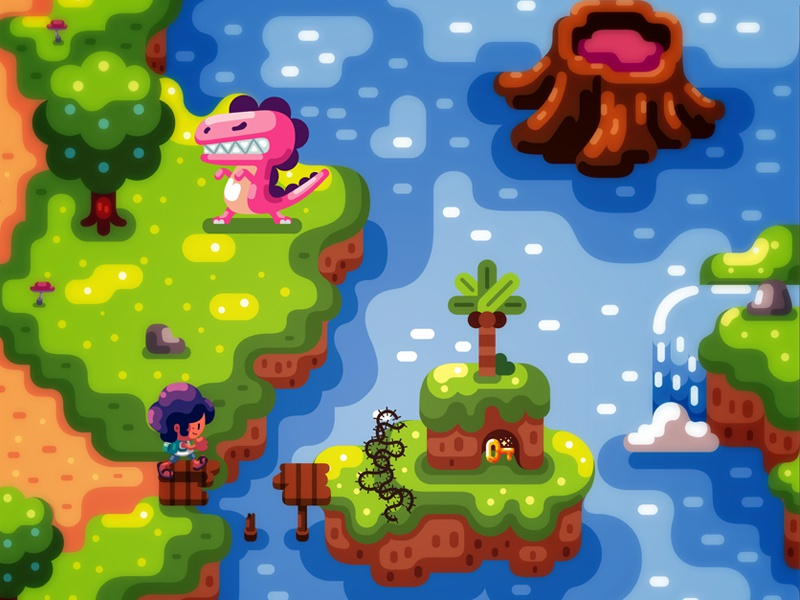 Game Concept nintendo houses inspiration fantasy timo illustration game