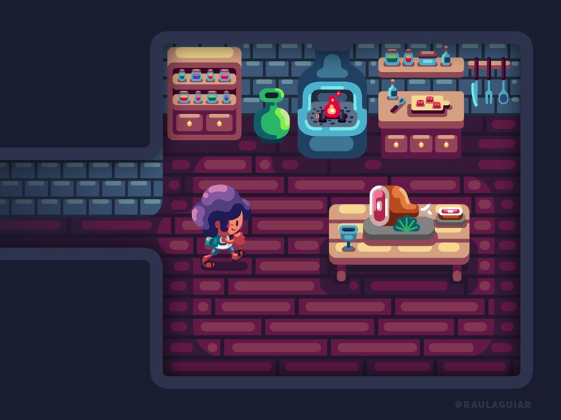 Medieval Kitchen nintendo houses inspiration fantasy timo illustration game