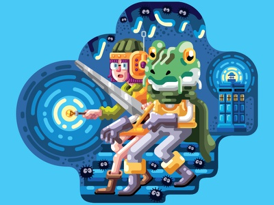 Chrono Trigger - Liferay editorial illustration editorial illustrationign character design character study illustration animation illo