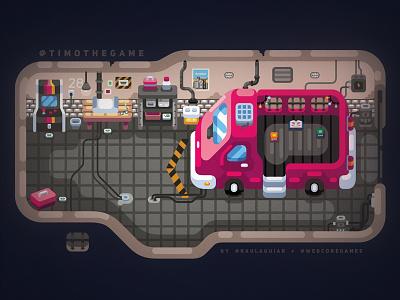 Game Menu timo adobe illustrator indie game illustration games
