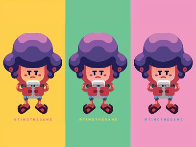 TIMO Gameboy game comics adobe illustrator vector animation illustration