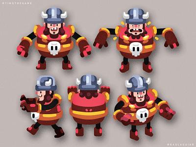 Warrior ui illustration adobe illustrator timo game art