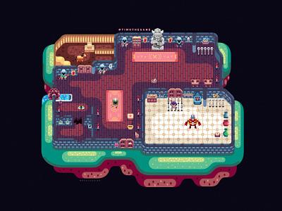 Castle Level illustration game ui vector timo adobe illustrator
