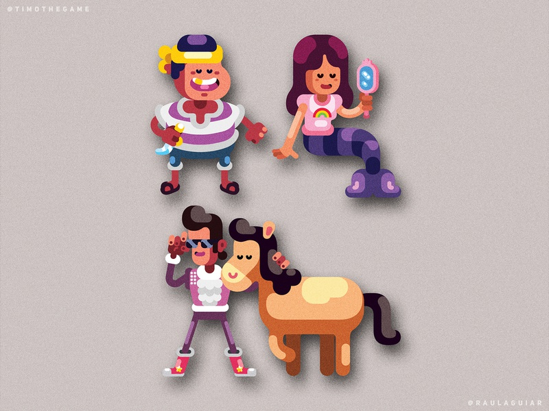 NPCs character design character study game adobe illustrator timo vector ui illustration