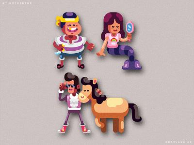 NPCs character design character study game adobe illustrator timo vector ui illustration