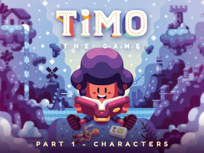 Timo - Main characters vector game timo adobe illustrator illustration