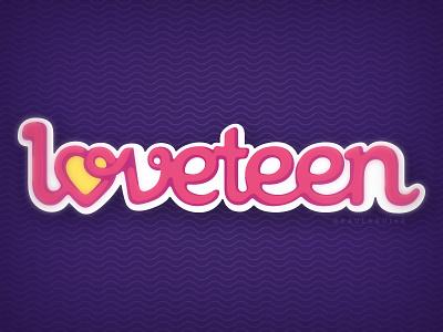 Loveteen logo magazine logo vector editorial adobe illustrator