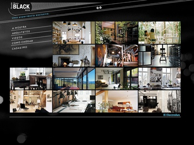 MostraBlack site design photoshop webdesign website