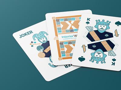 InteriorWorx Playing Cards flooring color design salt lake city branding illustration playing cards deck cards