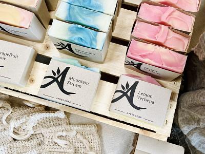 Aprés Soap Packaging hand lettering soap packaging packaging branding salt lake city soap