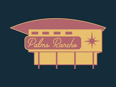 Palms Rancho Dingbat illustration architecture dingbat sticker los angeles palms