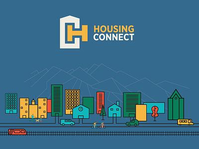 Housing Connect local salt lake city design illustration hc branding logo community connect