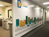 Housing Connect Hallway Mural