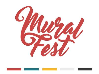 Mural Fest Logo rejected logo hand lettered handlettering festival mural local design logo illustration salt lake city