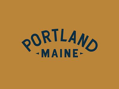 Portland Maine apparel identity branding illustration design lettering typography type