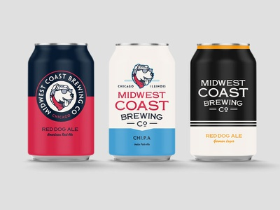 Midwest Coast Cans can dog chicago brewery craft beer beer graphic lettering type illustration typography vector logo branding identity design