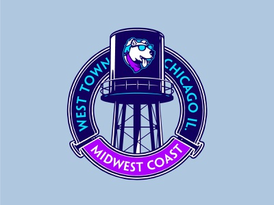 Midwest Coast Brewing vector apparel shirt chicago beer brewery badge logo type branding identity design illustration