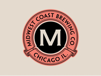 Midwest Coast Brewing beer brewery chicago patch shirt apparel vector logo type branding identity badge