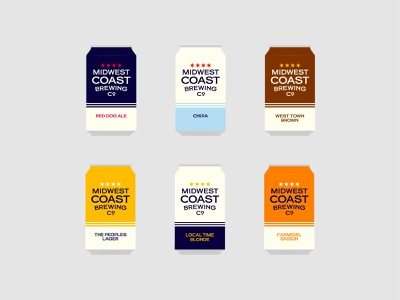 Midwest Coast Brewing beer brewery apparel vector logo type branding identity