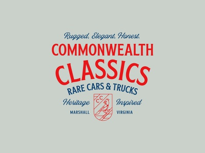 Commonwealth Classics graphic shirt lettering typography apparel vector logo type identity design