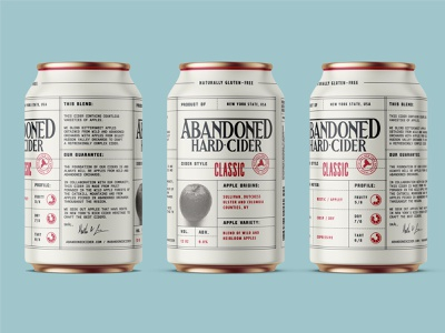 Abandoned Hard Cider Cans packaging cider can branding identity design
