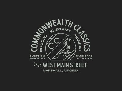 Commonwealth Classics graphic shirt lettering apparel vector type branding identity design