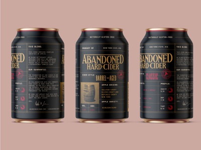 Abandoned Hard Cider packaging can cider typography vector logo type branding identity design