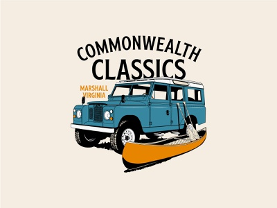 Commonwealth Classics poster badge graphic lettering shirt typography apparel vector illustration design