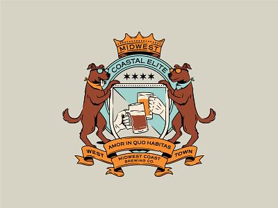 Midwest Coastal Elite graphic shirt badge identity branding logo vector apparel illustration design