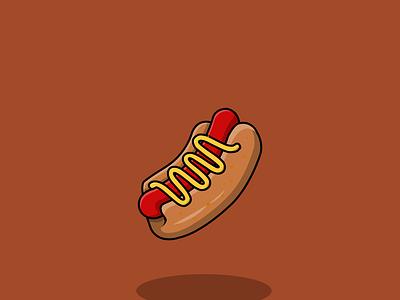 hotdog - vector illustration hotdog food flatdesign vector concept cartoon animation logo illustration flat design