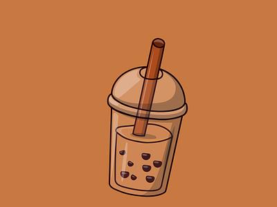 Mlik Boba Drink - Vector Illustration flatdesign vector animation cartoon logo illustration design flat food drink