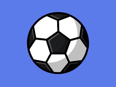 Soccer Ball classic competition sport ball circle mascot logo flat cartoon vector illustration design
