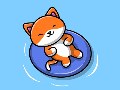 Cute Cat Swimming On Beach fur