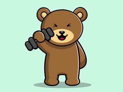 Cute Teddy Bear Fitness doll