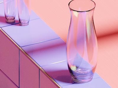 Glass colourful purple reflections glass textures materials procedural illustration blender 3d art 3d