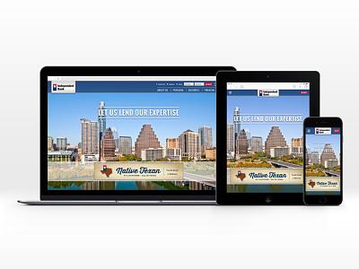 Independent Bank Website (ibtx.com) texas responsive website bank