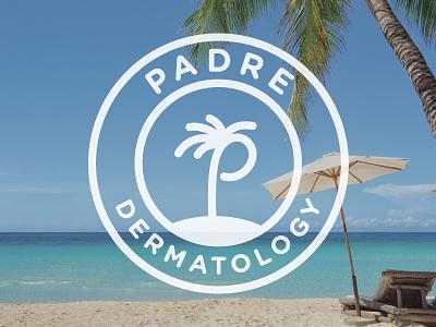 Padre Dermatology medical dermatology branding beach palm tree logo south padre