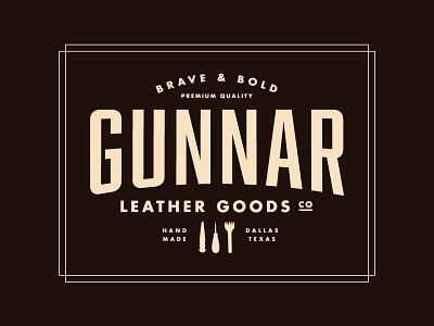 Gunnar Leather Goods Logo gunnar goods texas leather logo