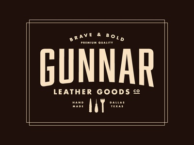Gunnar Leather Goods Logo gunnar goods texas leather logo