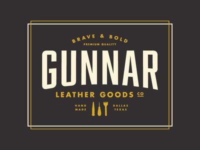 Gunnar Logo - 2 color version leather logo