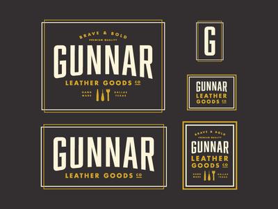 Gunnar Logo Exploration leather branding logo