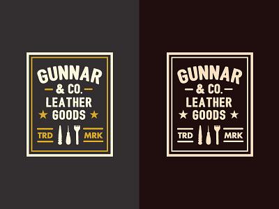 Gunnar Logo - version 2 leather branding logo