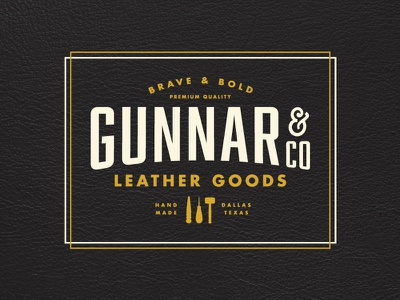 Gunnar Leather Goods - Approved version ismael burciaga identity logo dallas texas handmade branding leather leather goods