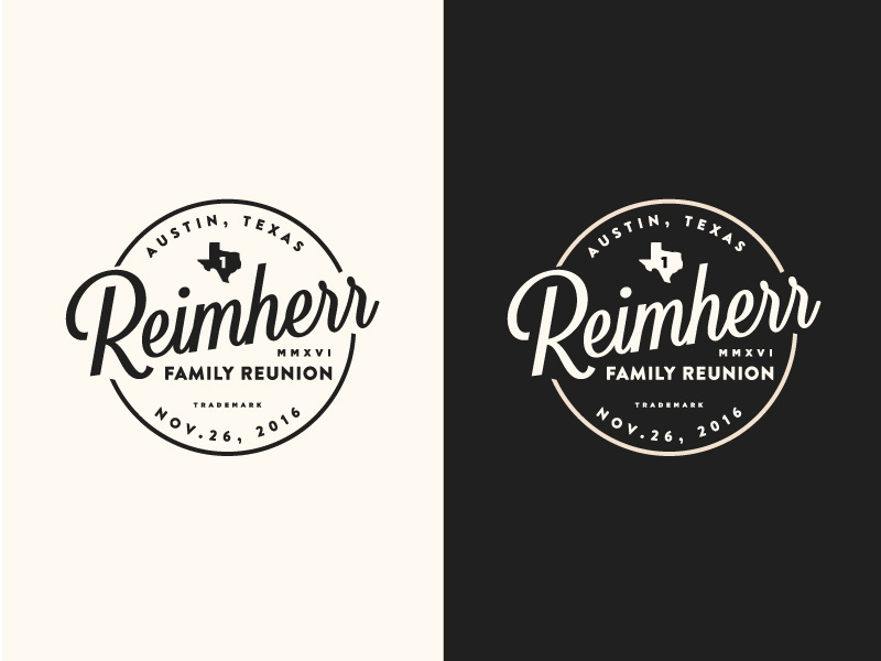 family reunion logo by mark fallis dribbble