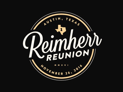Reimherr logo - udpated identity texas branding logo family reunion
