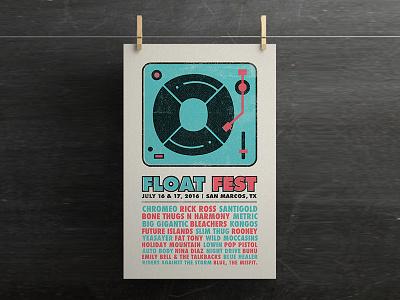 Float Fest Poster texas san marcos gig festival float fest poster