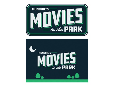 Movies in the Park  food truck moon dallas trees movie park theatre logo movies